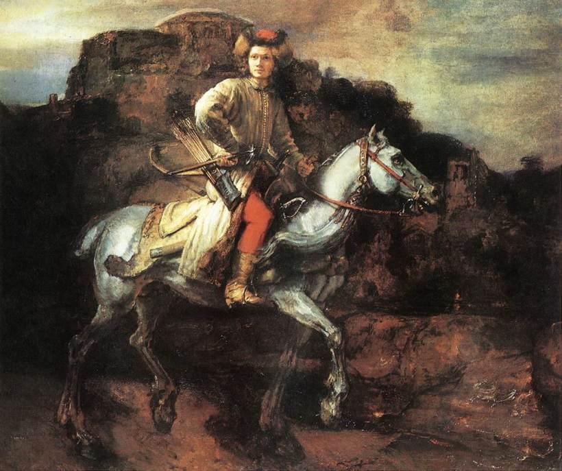 El Jinete Polaco. Rembrandt Harmenszoon van Rijn. 1656.